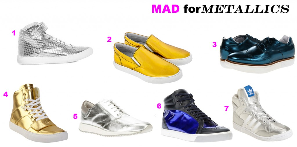 Mad for Metallic Sneakers
