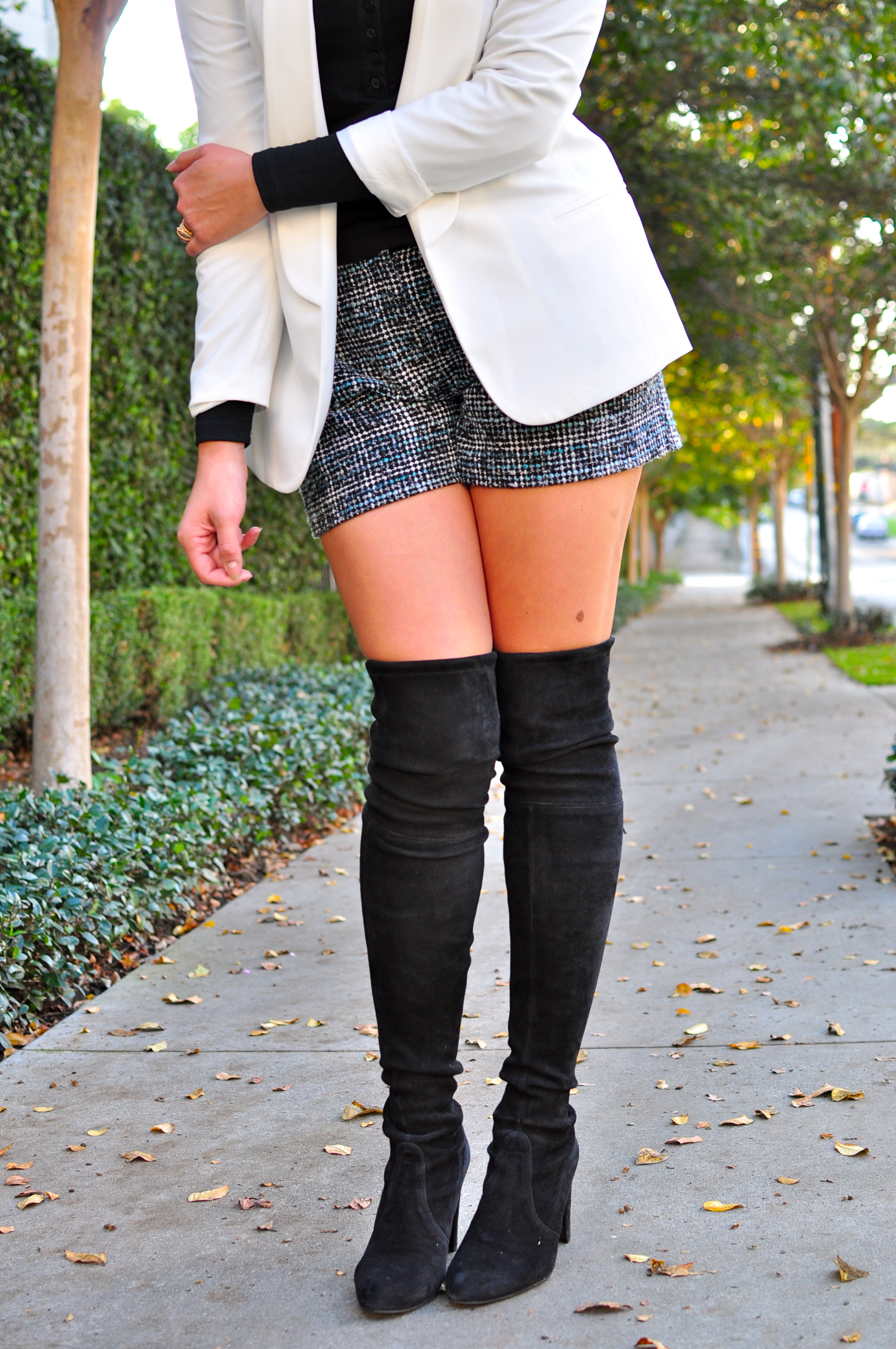 Thigh High Boots With Shorts Miss Zias