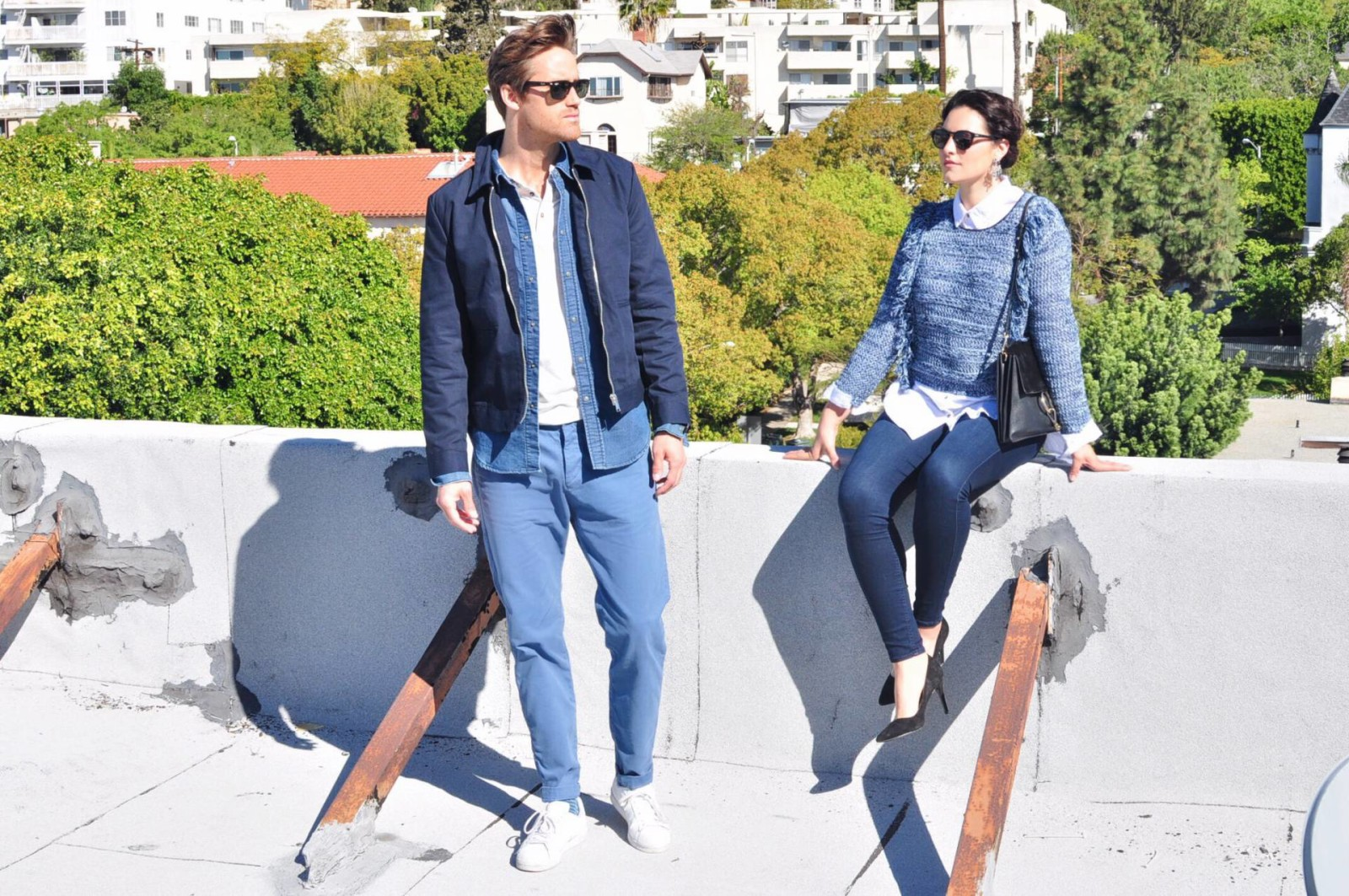 how to wear shades of blue
