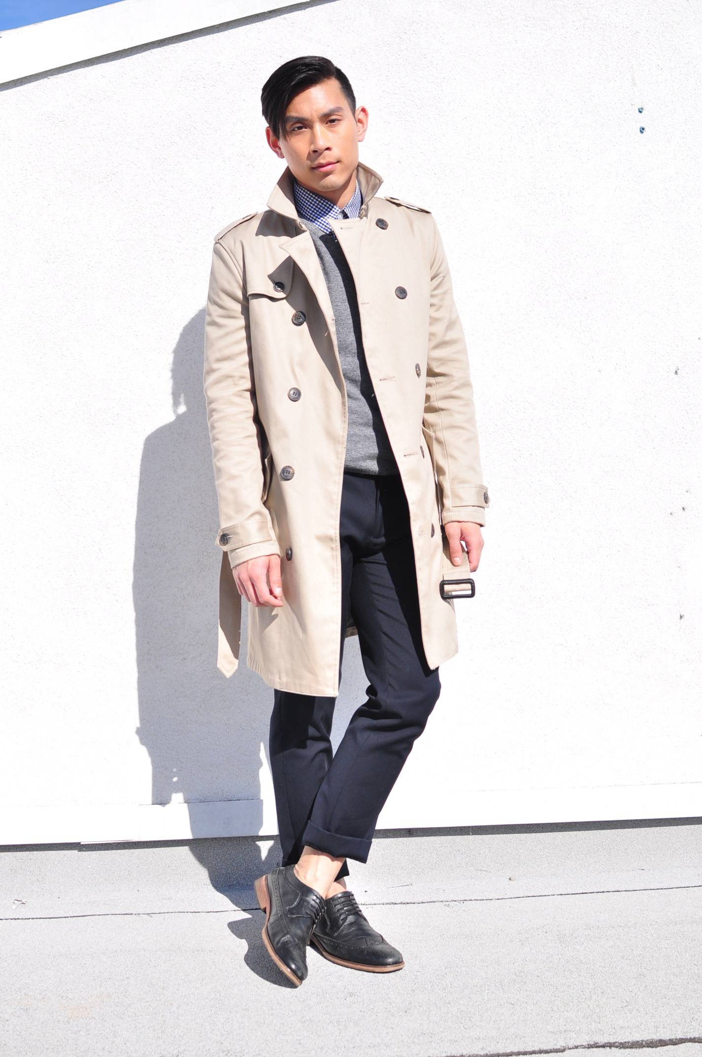 light weight spring jacket trench coat