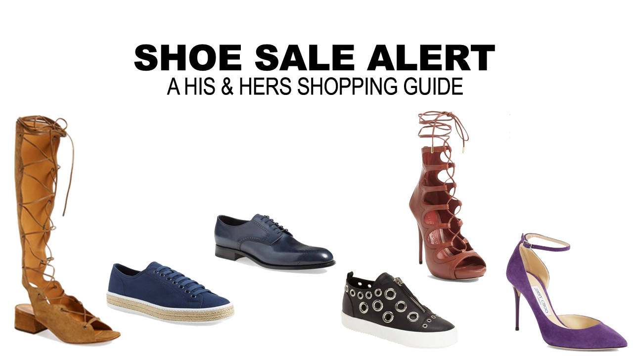 Shoe sale shopping guide for men and women