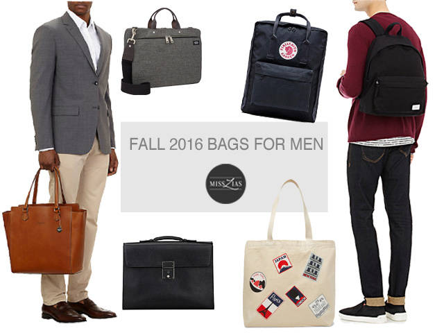 Men's Bags for Fall 2016- Trends & Styles