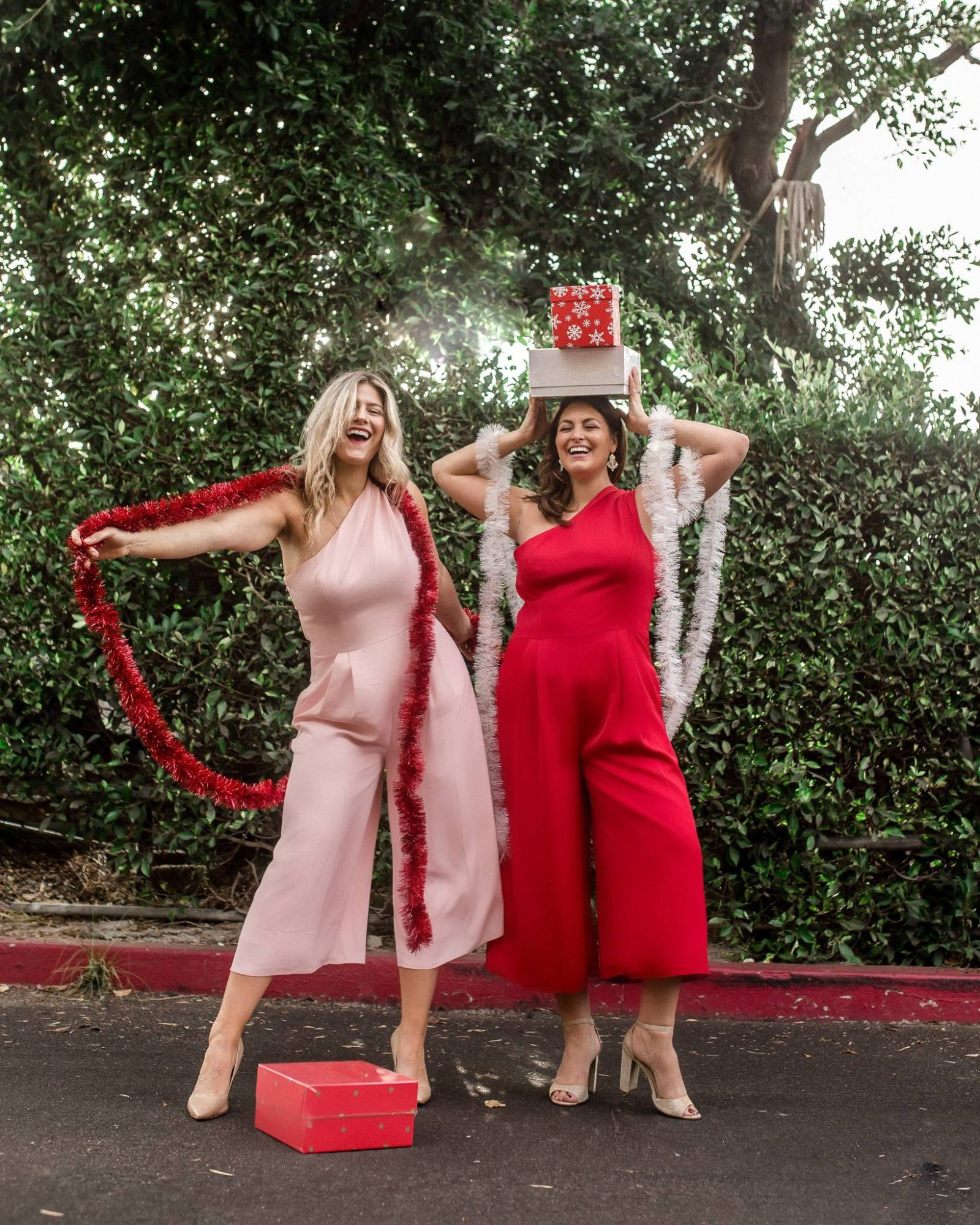 793b7c0eaaa Red Jumpsuit Holiday Style  What to Wear to a Holiday Party
